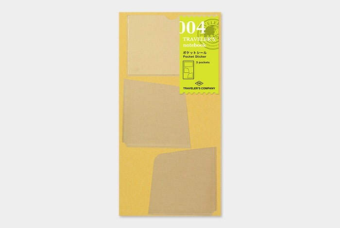 TRAVELER'S notebook refill 004 (Pocket Sticker)