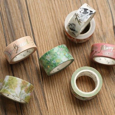 BGM Washi Tape Foil Stamping - Gold Penguin