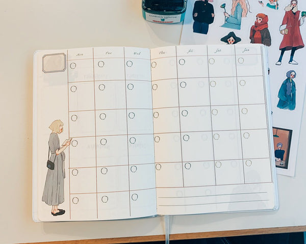 La Dolce Vita diary Monthly + Blank Pages