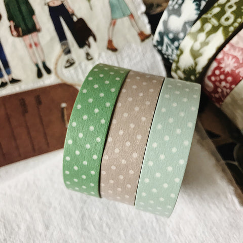 Pin Dots 13mm Masking Tape - 3 Colors
