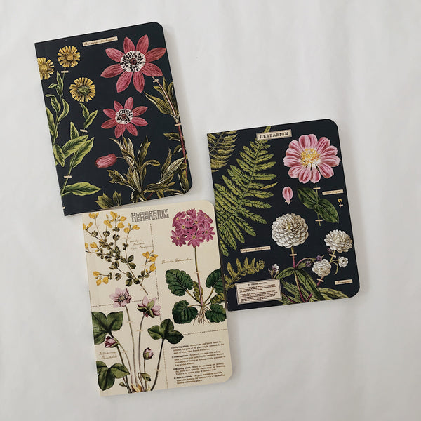 Cavallini 3in1 Mini Notebook - HERBARIUM