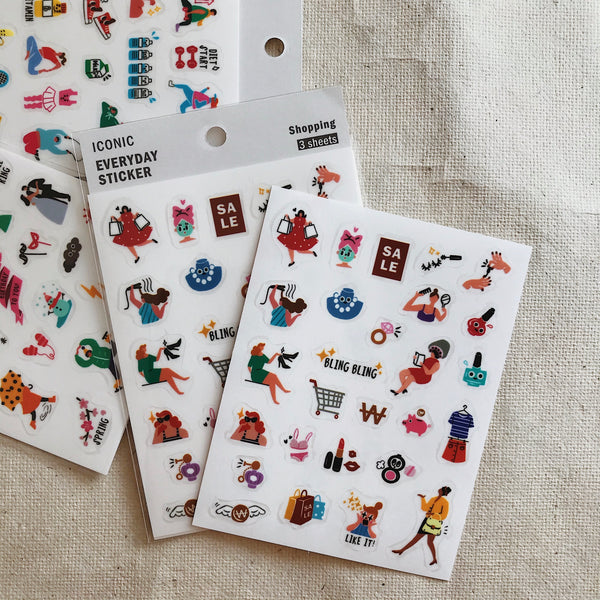 Shopping - Film Stickers (3 Sheets)