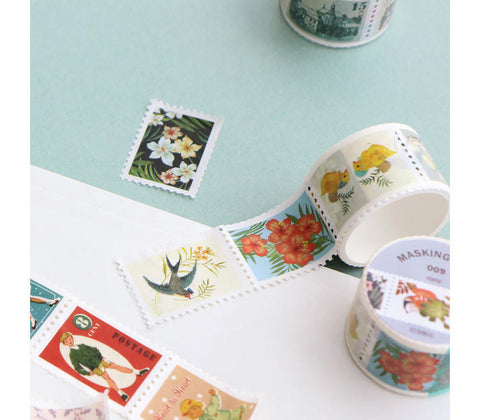 Postal Stamp Masking Tape - Natural
