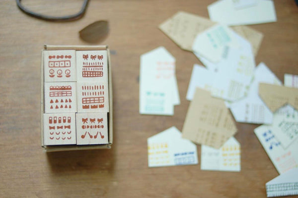 小島匠所 Dots & Shapes Mini Square Stamps Set
