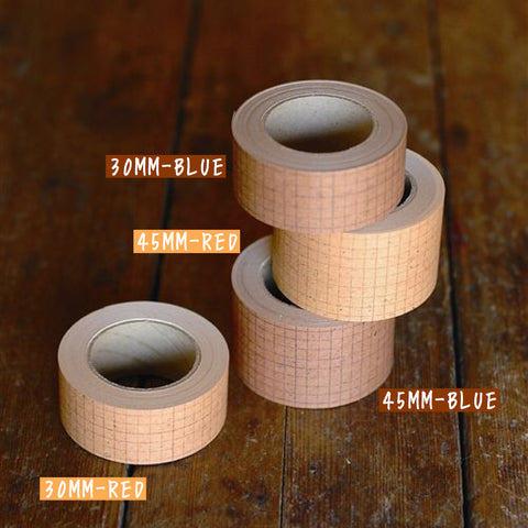 Classiky Grid Kraft Paper Tape (2 Sizes 2 Colors)