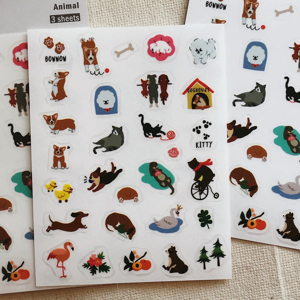 Animal - Film Stickers  (3 Sheets)