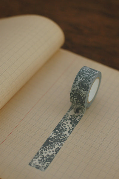 Among Festoons Masking Tape - Gray