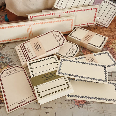 Letterpress Memo Cards Starter Set