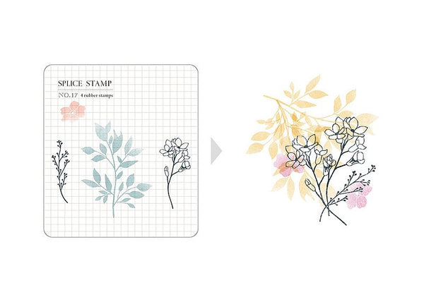 MU Splice Stamp No.17 Sun Kisses Flowers