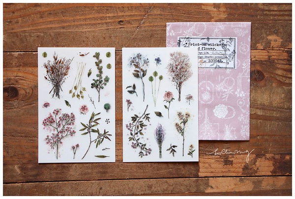 LCN Dried Flowers Print On Stickers
