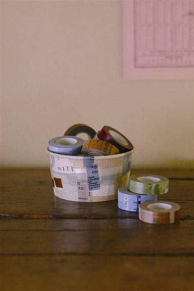 Classiky Old Book Washi Tape 10mm (3 Colors)