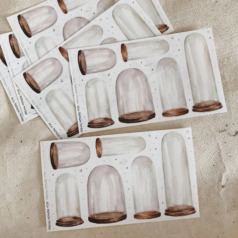 LCN Glass Jar Washi Stickers Set