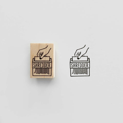 SHREDDER Rubber Stamp スタンプ