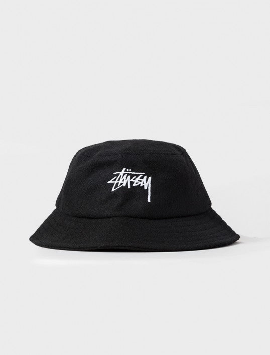 Stussy Stock Wool Bucket Hat - Black