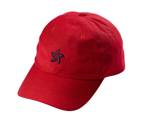 85IVE2 City Emblem B Cap Curved bill - Red