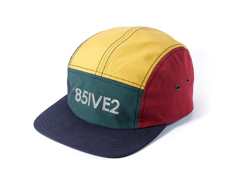 85IVE2 99 Sports (reflective)	5 Panel Cap - Navy/Green/Yellow/Red