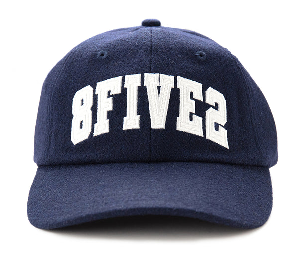 8FIVE2 LO Cap Curved bill - Navy Wool Felt