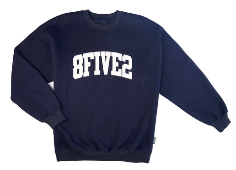 "8FIVE2 ""LO"" Crewneck Navy"