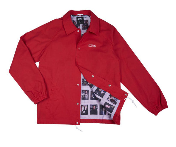8FIVE2 HMFK Vaca	 Coach Jacket	Red Ripstop