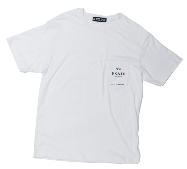 8FIVE2 N852 Pocket Tee - White