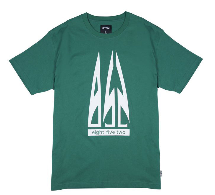 8FIVE2 Airlines S/S Tee Green