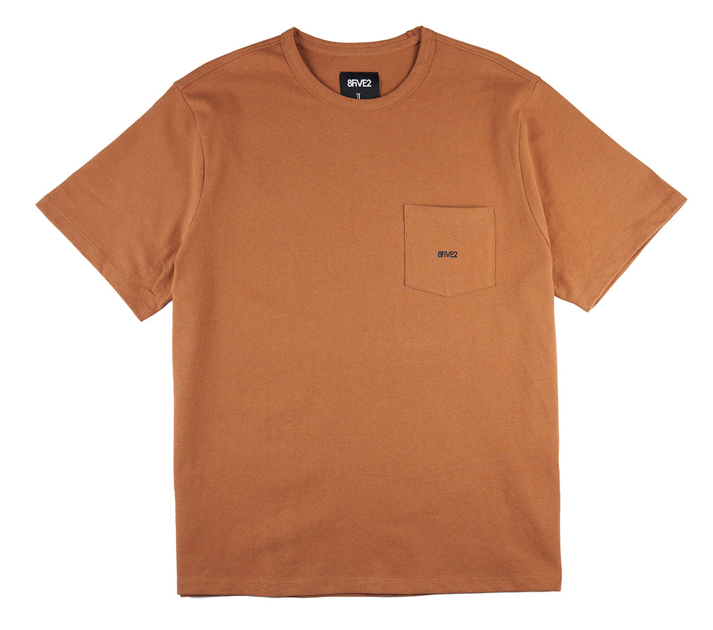8FIVE2 Balboa S/S Pocket Tee Khaki