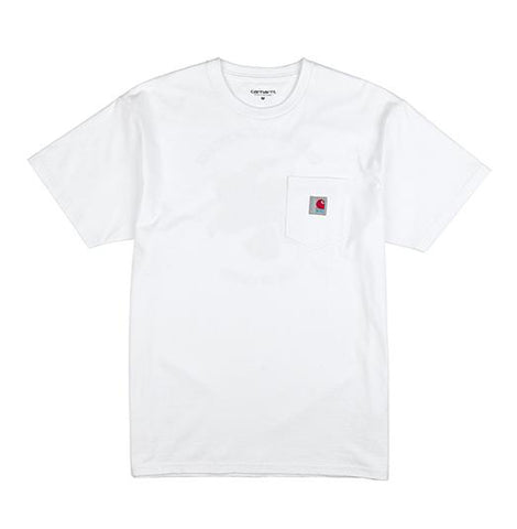 8FIVE2 x Carhartt WIP OLD STAMP S/S Pocket Tee White