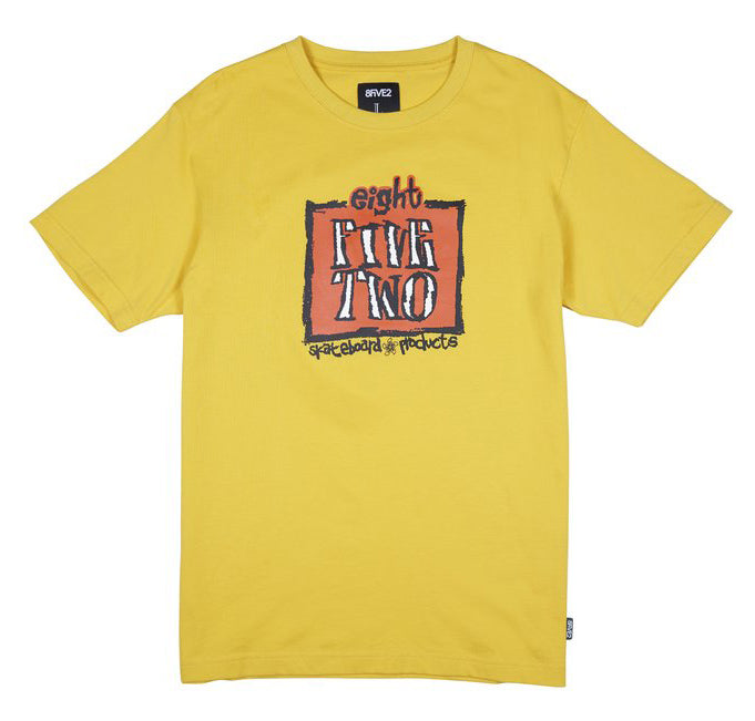 8FIVE2 Deal S/S Tee Yellow