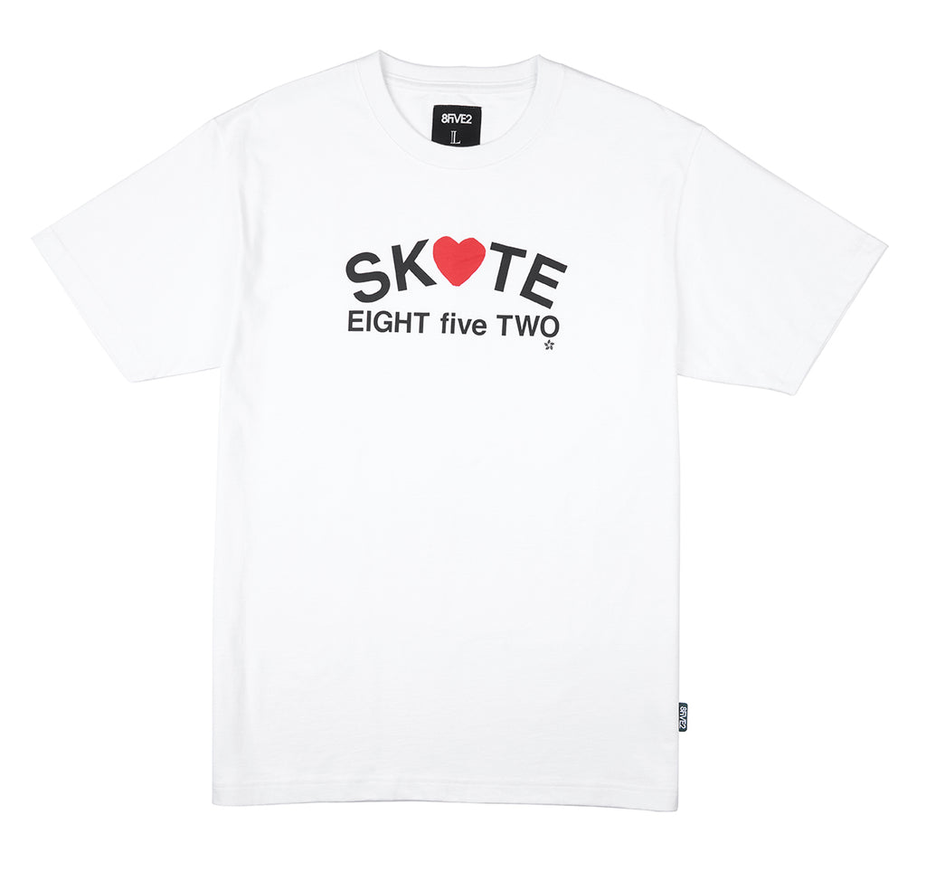 8FIVE2 Heart S/S Tee White