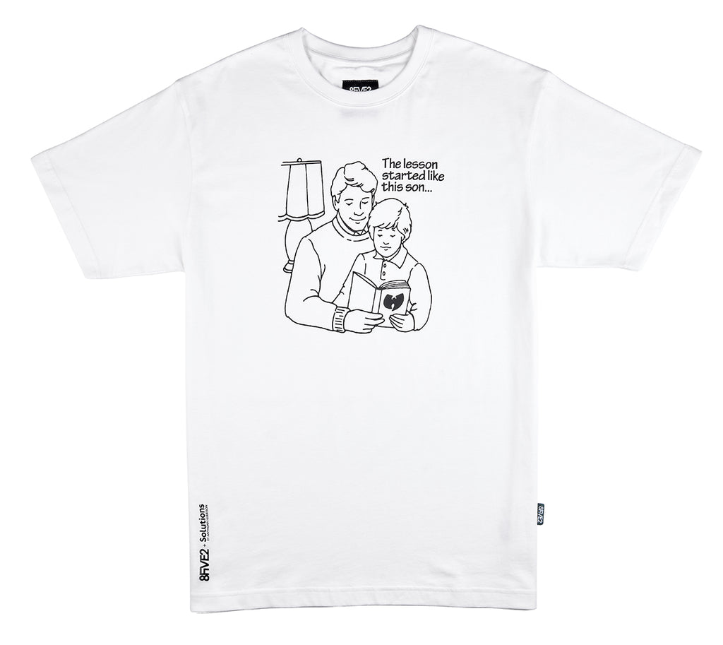 8FIVE2 x Anthony Harrison Read S/S Tee White