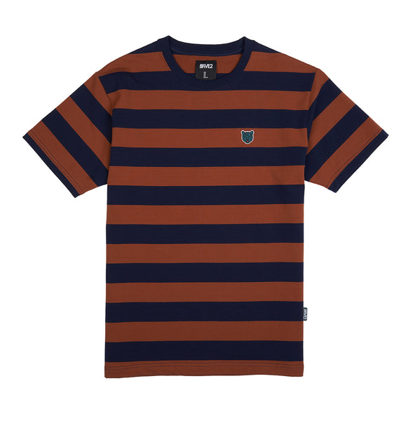 8FIVE2 Tiger S/S Tee Brown/Black