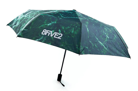 "8FIVE2 ""Marble"" Folded Umbrella Green"