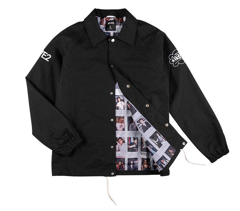 8FIVE2 x Haze MADE Coach Jacket Black
