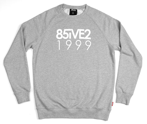 85IVE2 99 Crew Crewneck - Heather Gray
