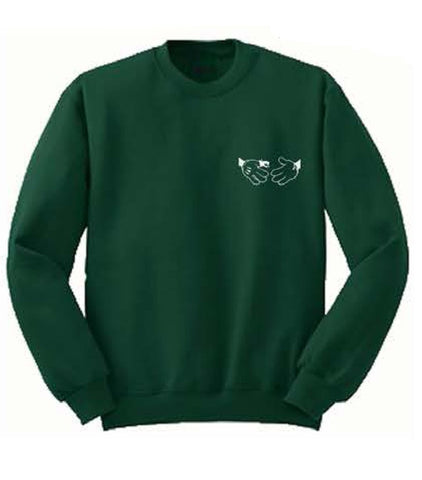 Doomsayer Cartoon Snake Shake Crewneck Green