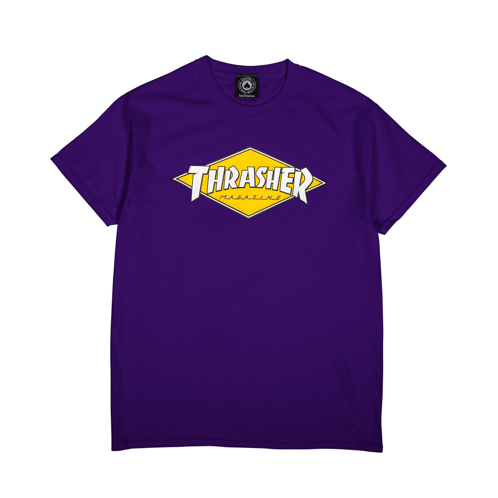 "Thrasher WIN21 ""Diamond Logo"" S/S Tee Purple"