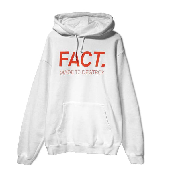FACT Black Eye Hoodie White