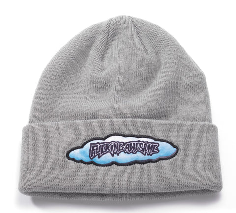 Fucking Awesome Rain Beanie Gray
