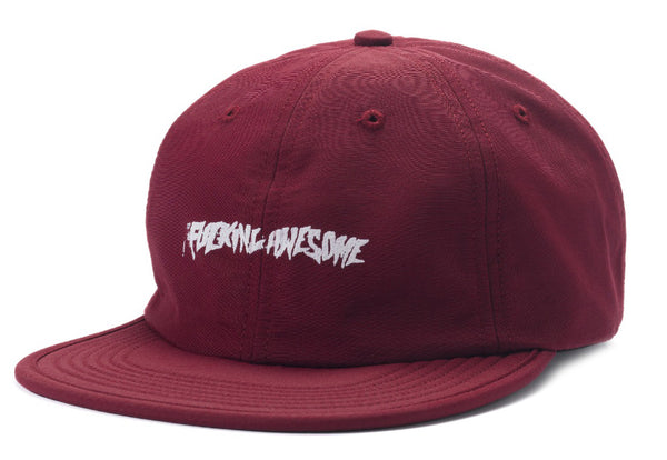 Fucking Awesome Stamp 6 Panel Snapback Cap Maroon