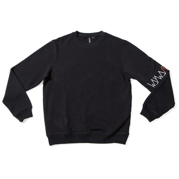 waywardwheels Ventilate Crewneck Black