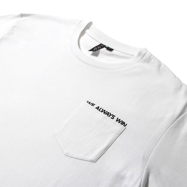 waywardwheels V-12 Pocket T-Shirt White