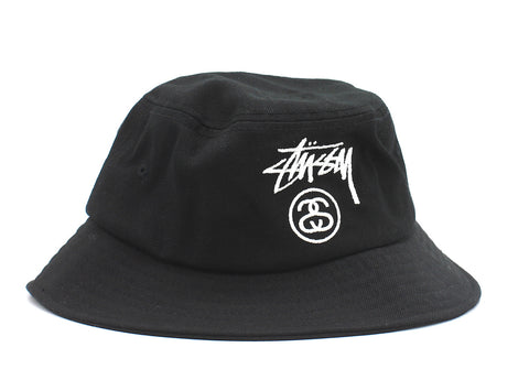 Stussy Acrylic Stock Lock Bucket Hat Black