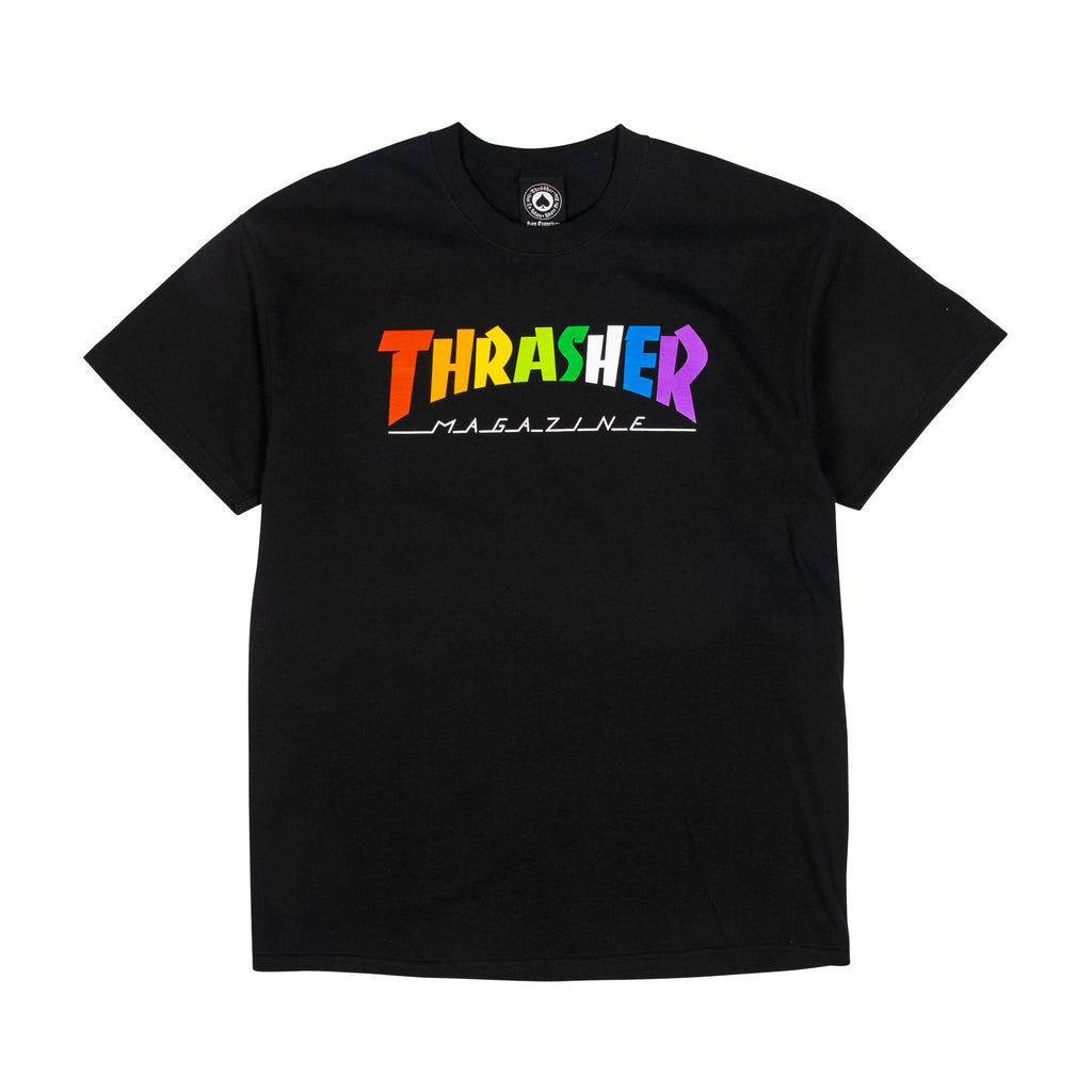 "Thrasher WIN21 ""Rainbow Mag"" S/S Tee Black"