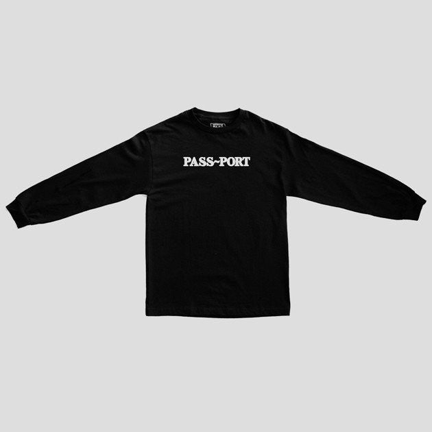 "PASS~PORT ""Official Puff"" L/S Tee Black"