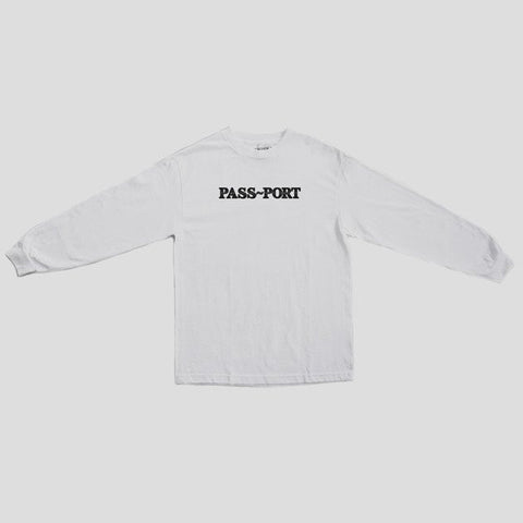 "PASS~PORT ""Official Puff"" L/S Tee White"