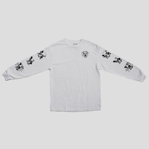 "PASS~PORT ""PLUG IN"" L/S Tee White"