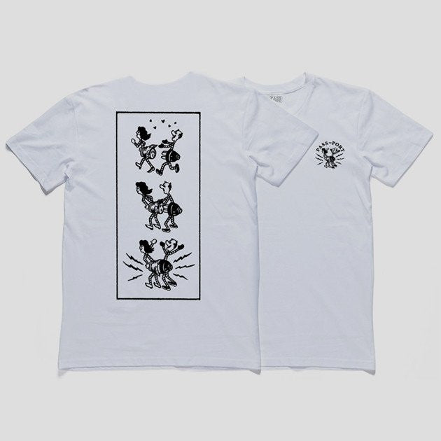 "PASS~PORT ""PLUG IN"" S/S Tee White"