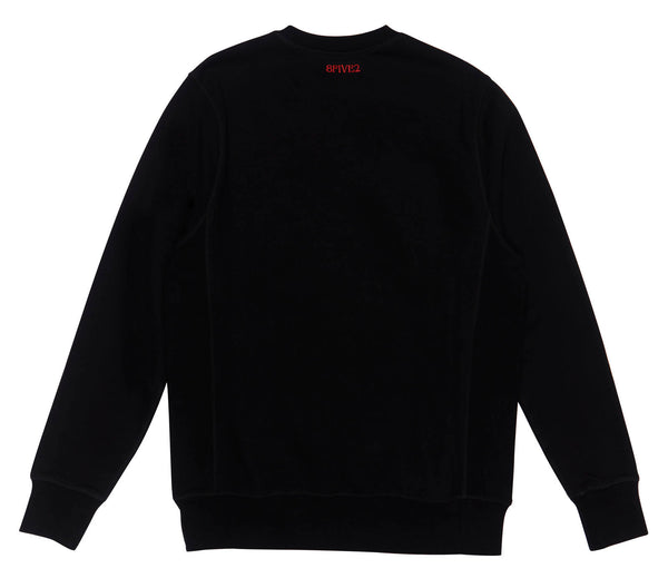 8FIVE2 SKATEBOARD THINGS CREWNECK BLACK