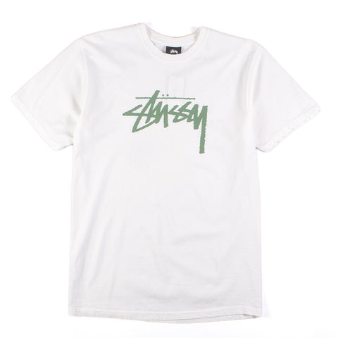 Stussy Stock Pig Dyed Tee - White