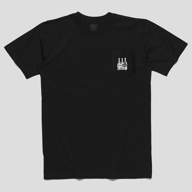 PASS~PORT Take Away Pocket S/S Tee Black